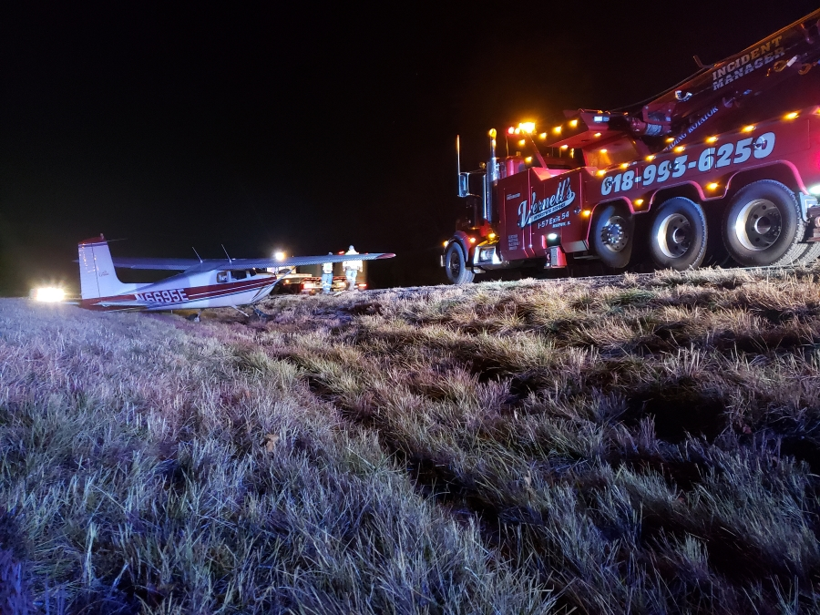 recovery of plane on interstate