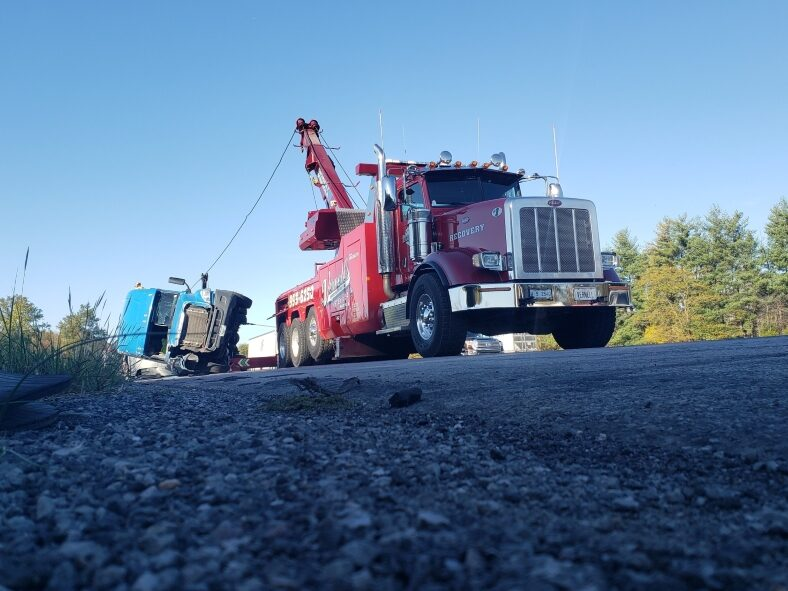 recovery of overturned semi