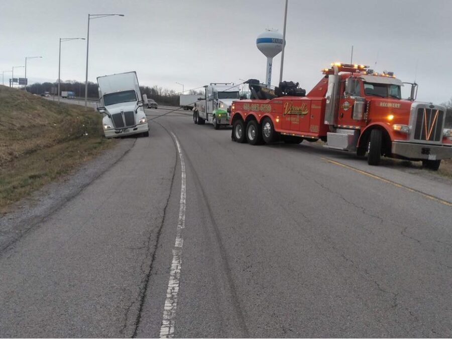 March 2021 recovery on Marion exit ramp